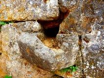 Antyczna kamień woda Gulley Zdjęcia Stock