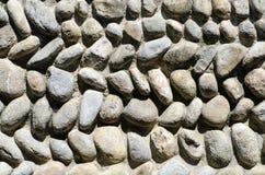 Antyczna kamienna ściana i niebo w kasztelu w Italy Obraz Royalty Free