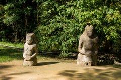 Antyczna kamienna statua scythian wojownik obraz stock