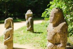 Antyczna kamienna statua scythian wojownik fotografia stock