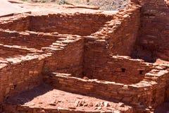 Antyczna kamienna struktura, Wupatki osada, Wupatki Krajowy zabytek zdjęcie royalty free