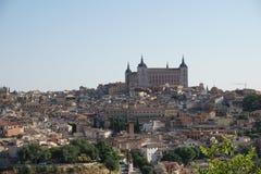 Antyczna katedra na górze Toledo, Hiszpania obraz stock