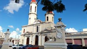 Antyczna Katolicka katedra w Kuba Obrazy Royalty Free