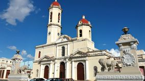 Antyczna Katolicka katedra w Kuba Obraz Stock