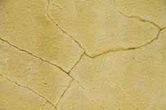 Antyczna kolor żółty ściana Zdjęcie Royalty Free