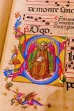 Antyczna książka w muzeum Siena katedra Obraz Royalty Free