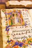 Antyczna książka w muzeum Siena katedra Fotografia Royalty Free