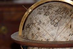 Antyczna kuli ziemskiej mapa Zdjęcie Royalty Free