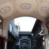 Antyczna kultury ulica w Tianjin, Chiny Zdjęcie Stock
