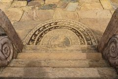 Antyczna lankijczyk kurendy kamienia cegiełka lub moonstone Obraz Royalty Free