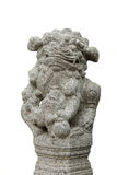 Antyczna lew statua Odizolowywająca na białym tle Obrazy Stock