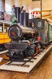 Antyczna lokomotywa w Tesla muzeum w Zagreb obrazy royalty free