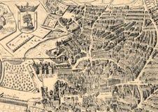 Antyczna Madryt miasta mapa Zdjęcie Royalty Free