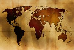 antyczna mapa Obrazy Stock