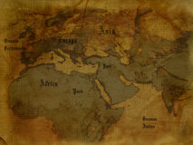antyczna mapa Zdjęcie Stock