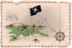 antyczna mapa Obraz Royalty Free