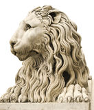 Antyczna marmurowa statua męski lew Obrazy Stock