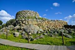 Antyczna megalityczna Serra Orrios Nuragic wioska w Sardinia, Włochy zdjęcia royalty free