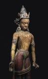 Antyczna Nepal statua odizolowywająca. Obrazy Stock