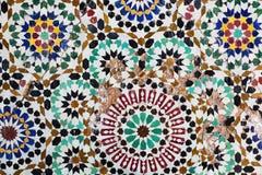 Antyczna orientalna mozaika, stubarwna Fotografia Royalty Free