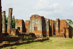 Antyczna Pagoda & Ruiny w Ayutthaya, Tajlandia Obraz Stock