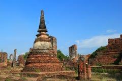 Antyczna pagoda w tajlandzkiej świątyni Obraz Stock