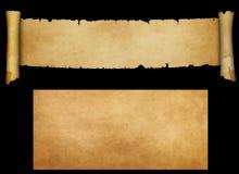 Antyczna pergaminowa ślimacznica i stara papierowa tekstura Obrazy Stock
