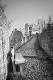 Antyczna średniowieczna droga która prowadzi od wioski Soave th Obrazy Stock