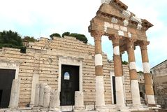 Antyczna Romańska świątynia Capitolium Obraz Royalty Free
