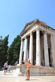 Antyczna Romańska świątynia cesarz Augustus w Pula - Chorwacja Obraz Stock