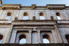 Antyczna Romańska Brama Porta w Verona Borsari Fotografia Stock
