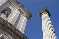 Antyczna Romańska kolumna obrazy royalty free