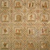Antyczna Romańska mozaika. Kalendarz obraz stock