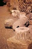 Antyczna Romańska kolumna w Pompeii Obrazy Stock