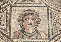 Antyczna Romańska mozaika Zdjęcie Stock
