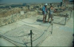 Antyczna Romańska mozaika Zdjęcia Stock