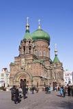 Antyczna rosjanina St Sofia katedra, Harbin, Chiny obraz stock