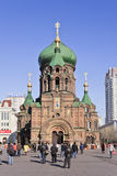 Antyczna rosjanina St Sofia katedra, Harbin, Chiny obrazy royalty free