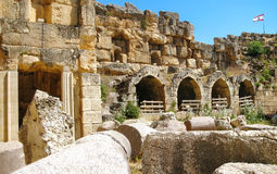 Antyczna Rzym architektura Liban Obrazy Stock