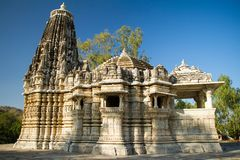 Antyczna słońce świątynia w Ranakpur, India Fotografia Stock