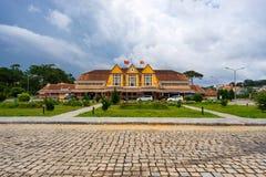 Antyczna stacja jest sławnym miejscem, historii miejsce przeznaczenia dla podróżnika przy Dalat, Wietnam Fotografia Royalty Free