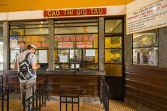 Antyczna stacja jest sławnym miejscem, historii miejsce przeznaczenia dla podróżnika przy Dalat, Wietnam Obrazy Stock