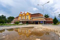 Antyczna stacja jest sławnym miejscem, historii miejsce przeznaczenia dla podróżnika przy Dalat, Wietnam Obraz Royalty Free