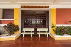 Antyczna stacja jest sławnym miejscem, historii miejsce przeznaczenia dla podróżnika przy Dalat, Wietnam Obraz Stock