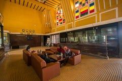 Antyczna stacja jest sławnym miejscem, historii miejsce przeznaczenia dla podróżnika przy Dalat, Wietnam Obrazy Royalty Free