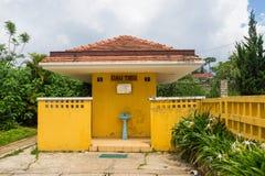 Antyczna stacja jest sławnym miejscem, historii miejsce przeznaczenia dla podróżnika przy Dalat, Wietnam Zdjęcie Stock