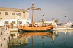 Antyczna statek replika - Kyrenia swoboda, Cypr Obraz Royalty Free