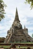 Antyczna stupa w Ayutthaya Zdjęcia Stock
