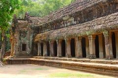 Antyczna Ta Prohm Ankor świątynna dżungla, Kambodża Obrazy Royalty Free