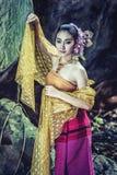 Antyczna Tajlandzka kobieta W Tradycyjnym kostiumu Tajlandia Zdjęcie Royalty Free